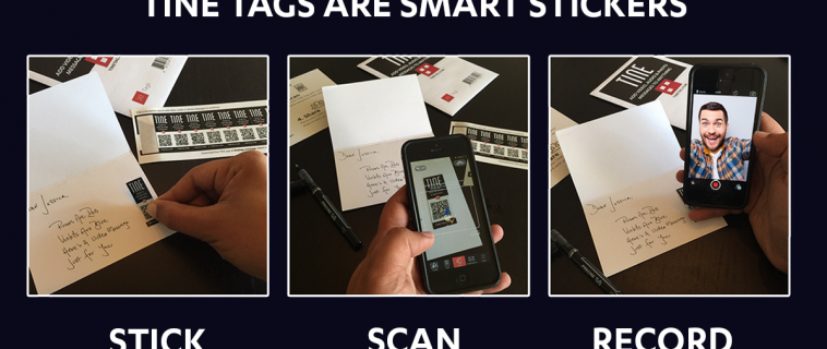 WHEN SOMEONE SCANS YOUR TINE TAG, THEY'LL SEE  YOUR MESSAGE AND YOU'LL GET NOTIFIED IN THE APP